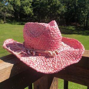 Pink Panama Jack Straw Hat